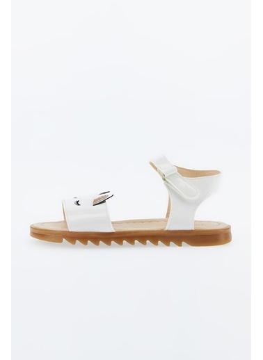 DeFacto Kız Çocuk Unicorn Desenli Sandalet Beyaz